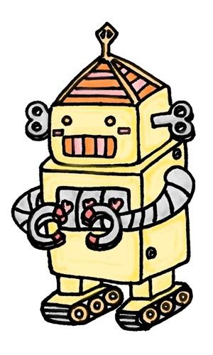 ロボットのイラスト素材3_w500
