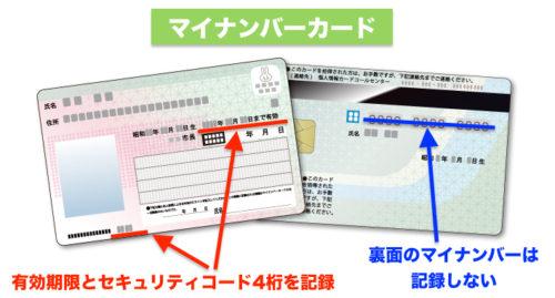 マイナンバーカードで確認する内容