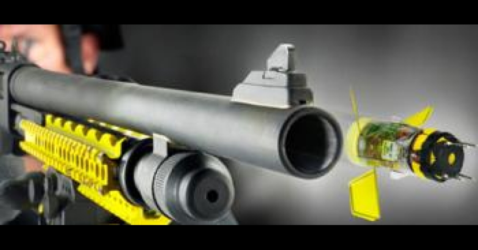 ショットガンタイプのスタンガン銃