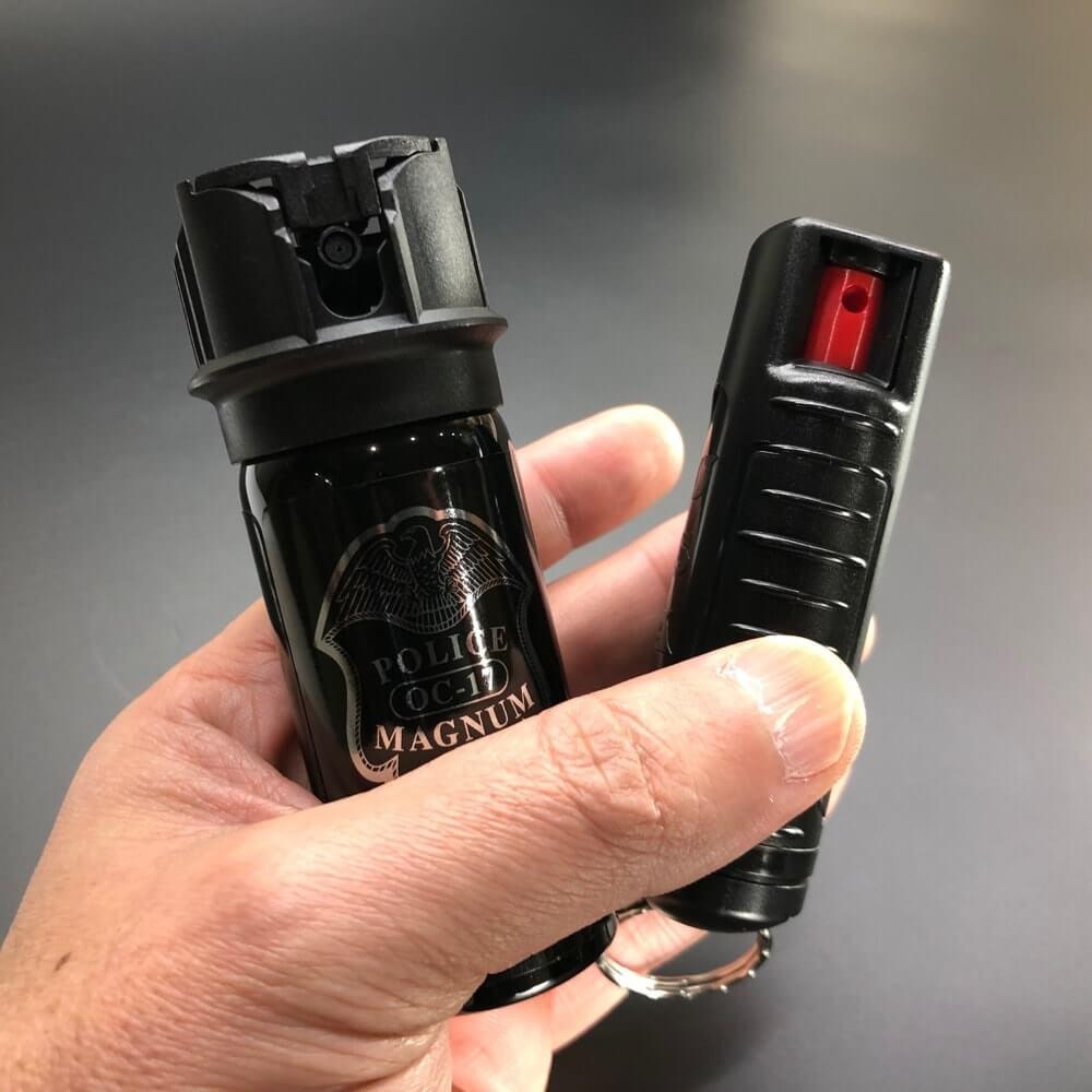 手の平サイズで軽く携帯の負担にならない催涙スプレー