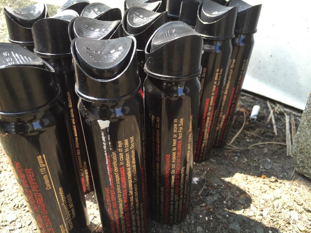 業者様からの大量の廃棄催涙スプレー